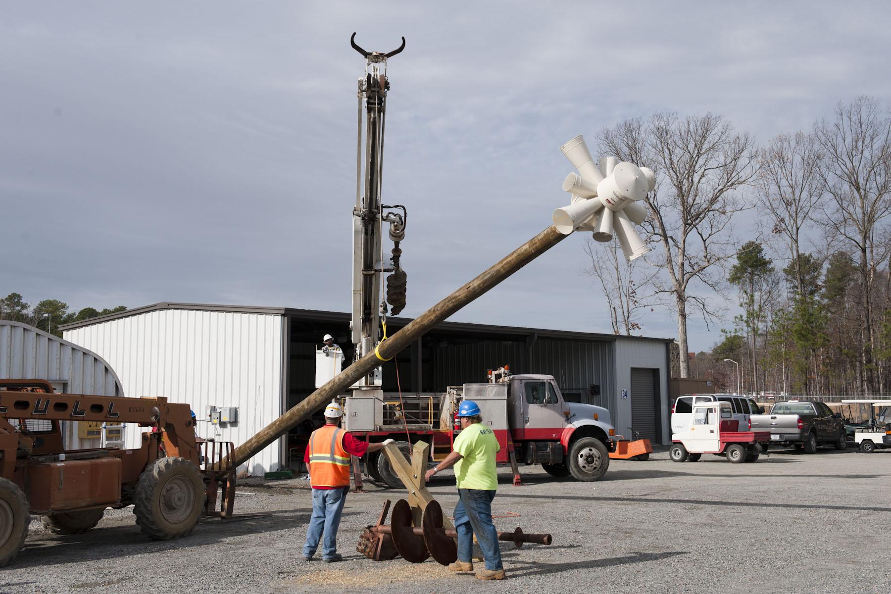 Installation of tornado siren, December 2011