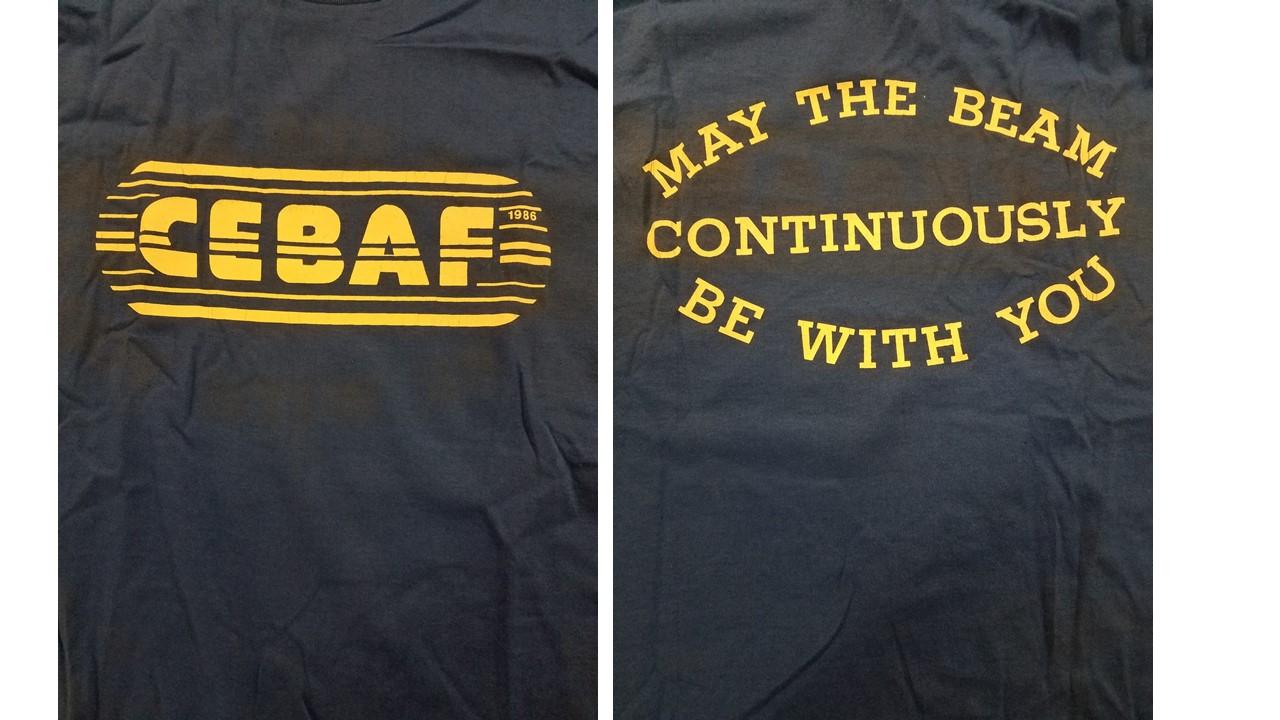 The first JLAB (CEBAF) t-shirt, 1986