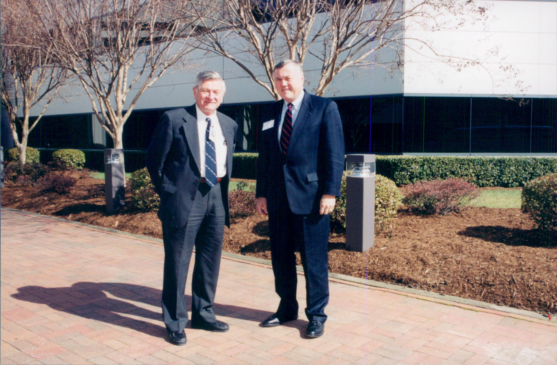 Director Hermann Grunder (l) with General Eugene Habiger, DOE Director of Security and Emergency Operations, March 3, 2000.
