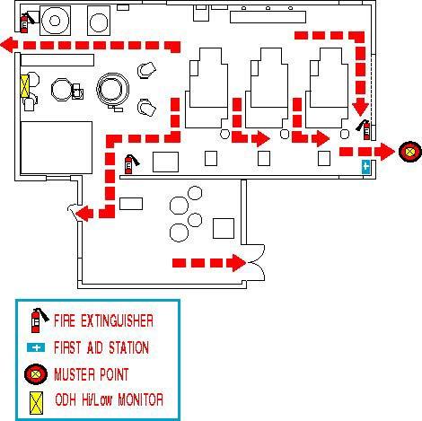 Building 57 Evacuation Plan