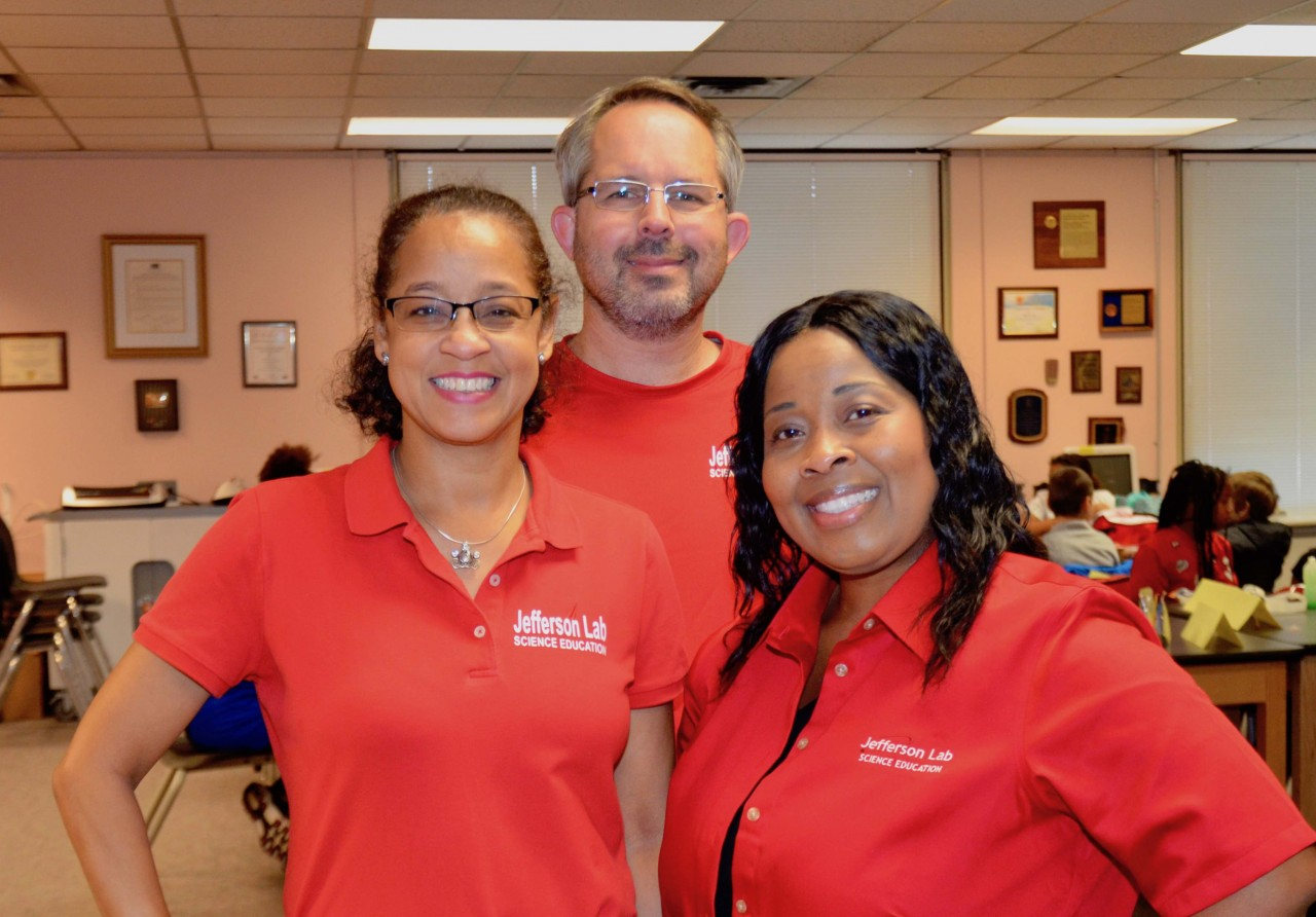 "Science Education group members wear ""Red for Ed"" shirts"