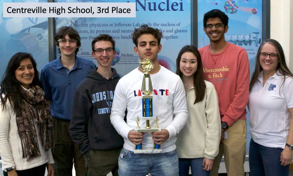 2019 Va. Regional HS Science Bowl 3rd place team