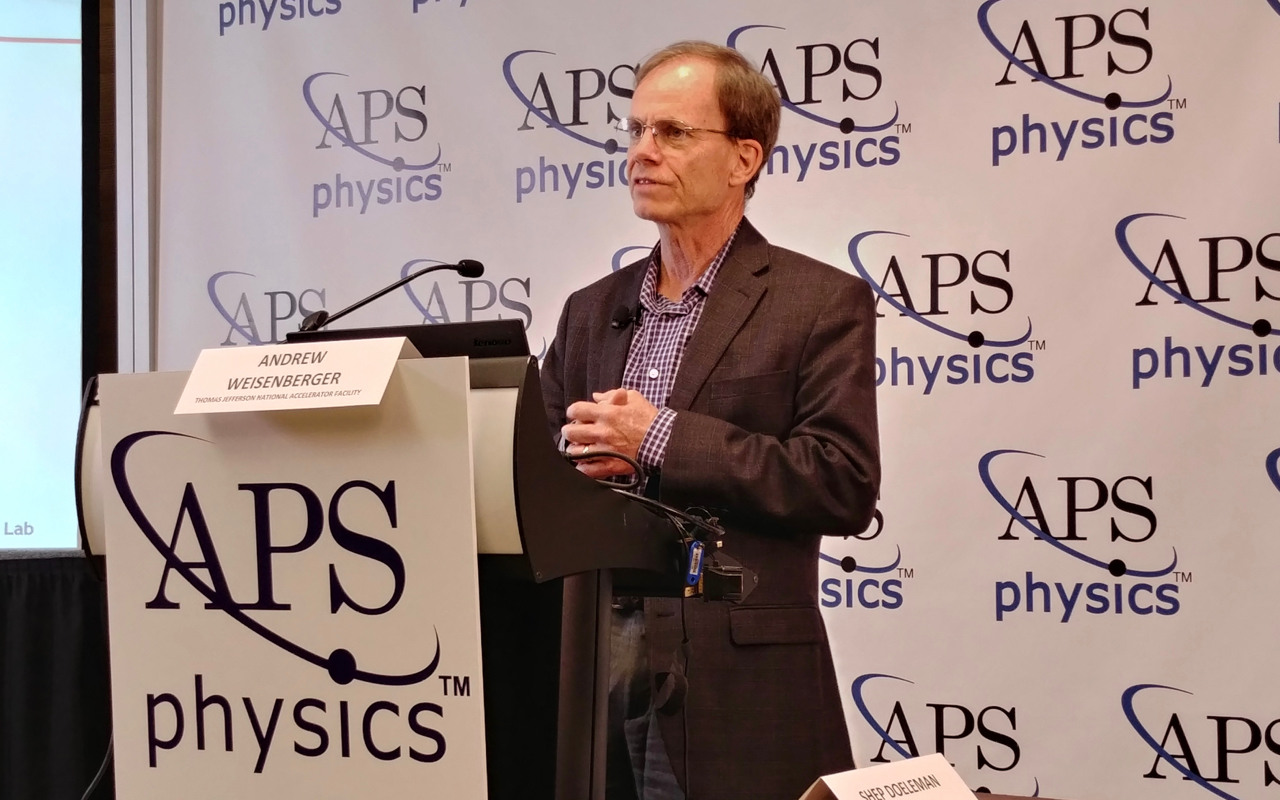 APS April Meeting News Conference featuring Drew Weisenberger