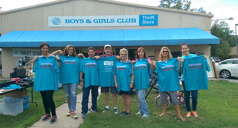 JLab volunteers help out at Boys & Girls Club Thrift Store during Day of Caring
