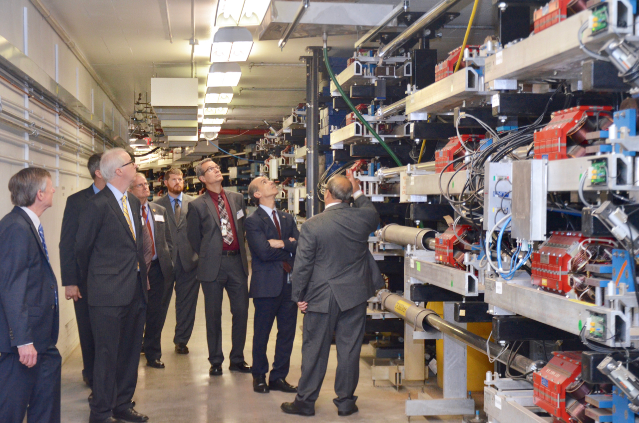 Group tour of CEBAF Accelerator