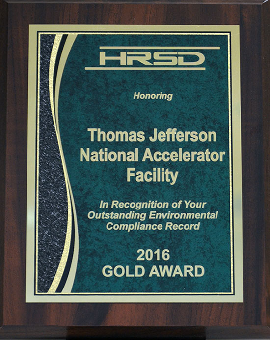 Hampton Roads Sanitation District 2016 Gold Award