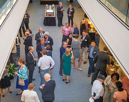 Thirty-seven current and former Jefferson Lab employees were recognized on Sept. 29, 2016