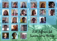 Poster with screenshots of the 22 interns and the lab director