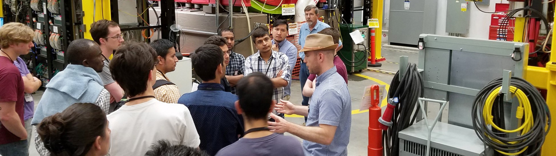 HUGS Students tour CEBAF's Experimental Hall D