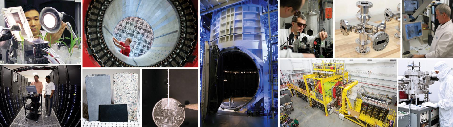Collage of Jefferson Lab technologies