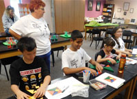 K-12 students participate in a JLab Science Education activity