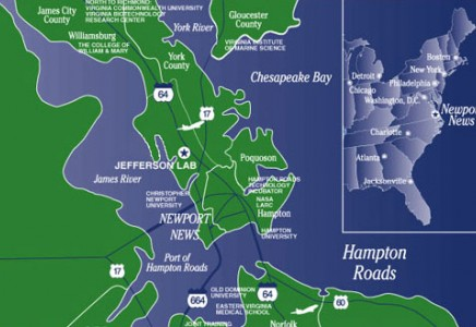 Jefferson Lab is located in Newport News, VA, in the Hampton Roads area