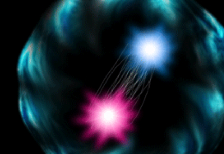 Two quarks in a pion, artistically rendered
