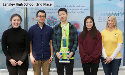 2019 Va. Regional HS Science Bowl 2nd place team