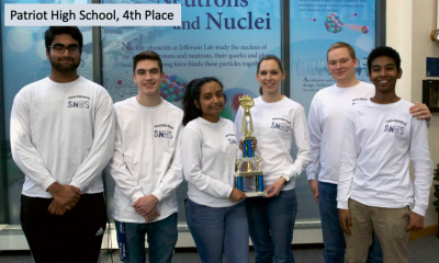 2019 Va. Regional HS Science Bowl 4th place team