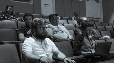 Physicists in the audience at the 2019 JLUO meeting