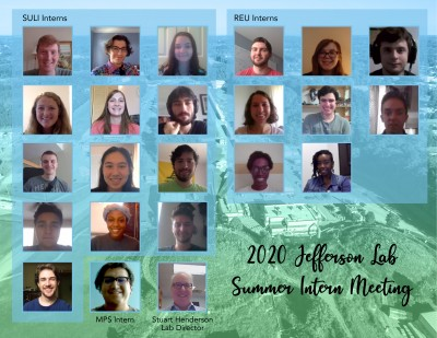 poster of summer undergraduate interns and lab director