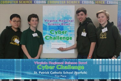 St. Patrick Catholic Middle School - Cyber Challenge Winners